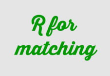 R-for-matching