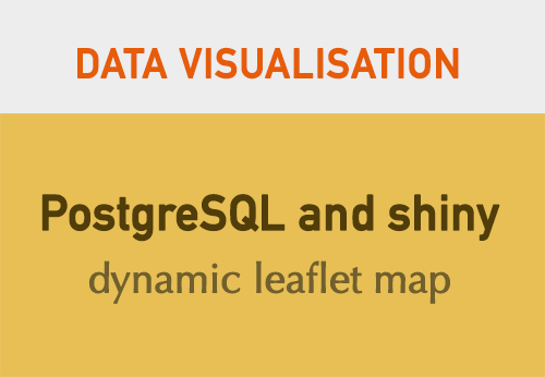Using PostgreSQL and shiny with a dynamic leaflet map: monitoring
