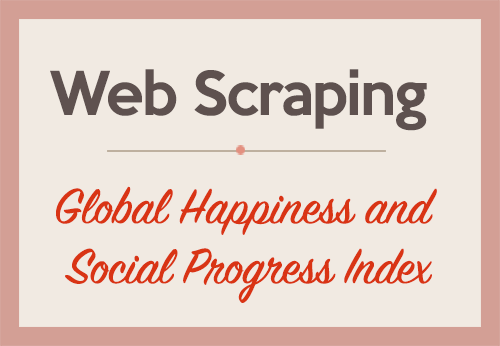 Web Scraping and Applied Clustering Global Happiness and Social