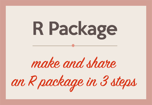 How to make and share an R package in 3 steps | DataScience+