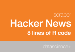 Building a Hacker News scraper with 8 lines of R code using