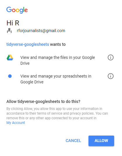 How to Use googlesheets to Connect R to Google Sheets