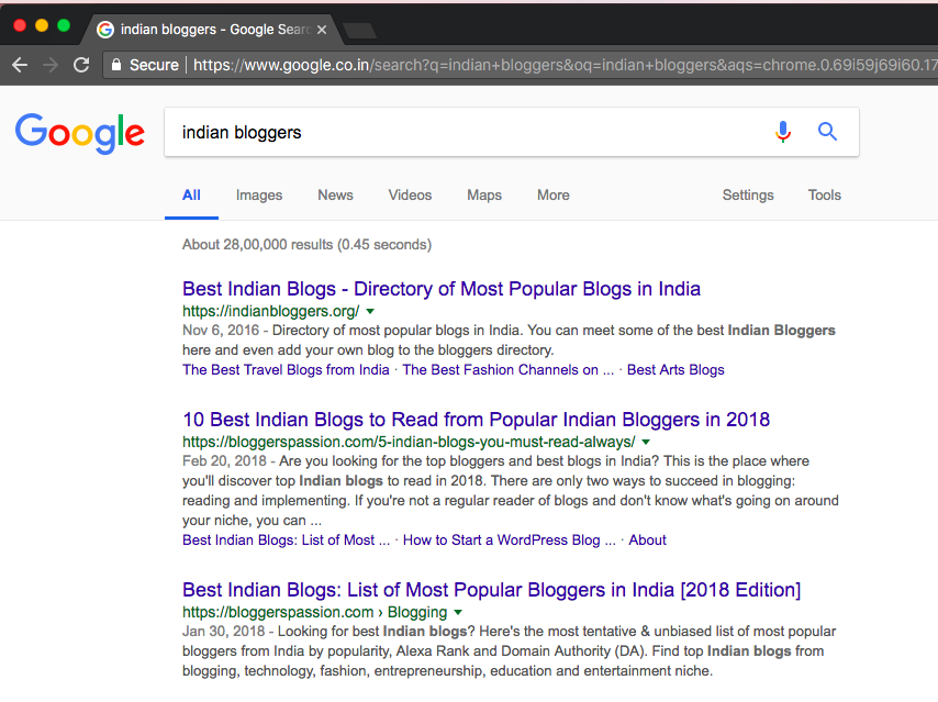 Finding the Popular Indian Blogging Platform by Web Scraping in