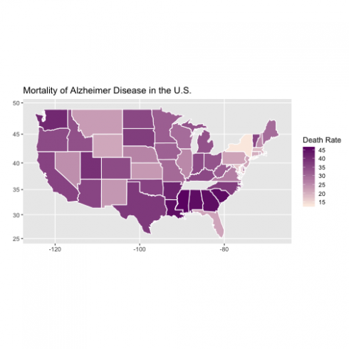 Mapping the Prevalence of Alzheimer Disease Mortality in the USA