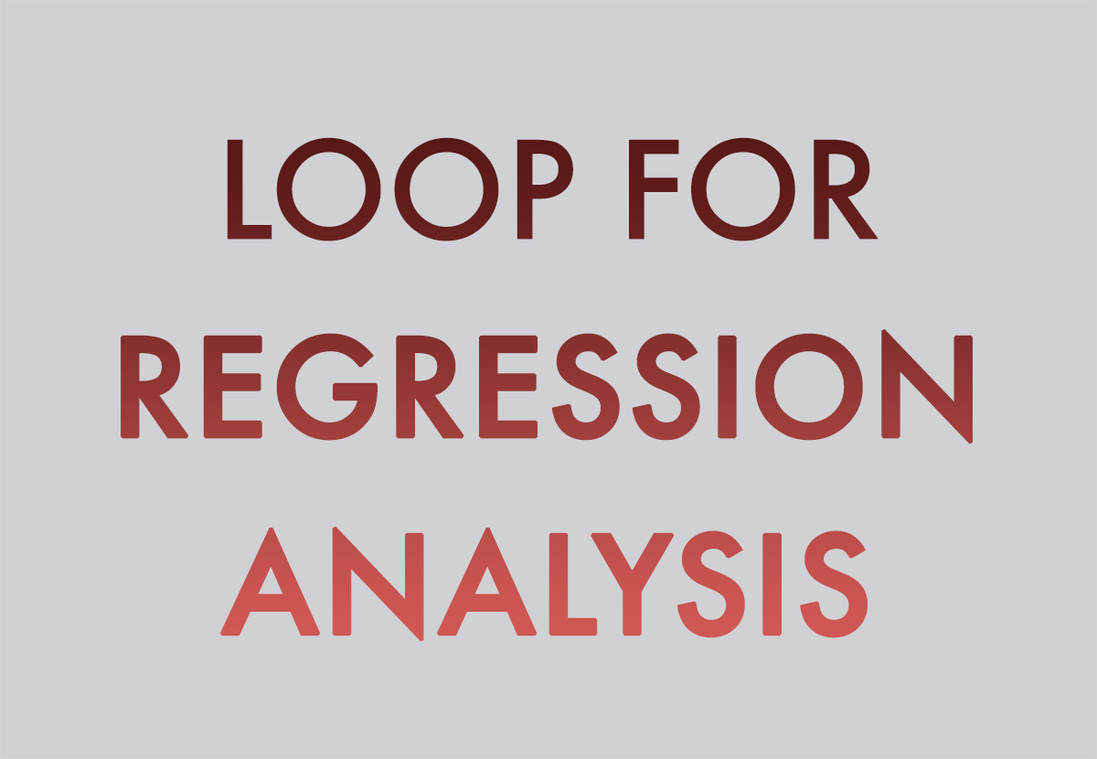 How to do regression analysis for multiple independent or dependent